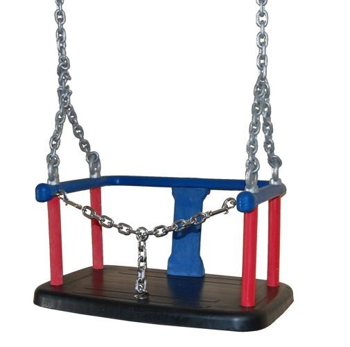 Rubber baby swing seat witch metal insert + Galvanized metal chain set 6 mm 1,8 m