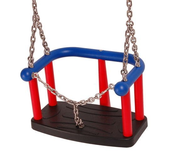 TPE baby swing seat  LUX with aluminium insert + Galvanized metal chain set 5 mm 1,8 m