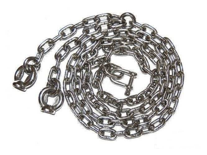 A set of stainless steel chains 5mm - 1,8m
