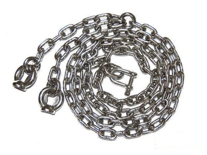 A set of stainless steel chains 6mm - 1,5m