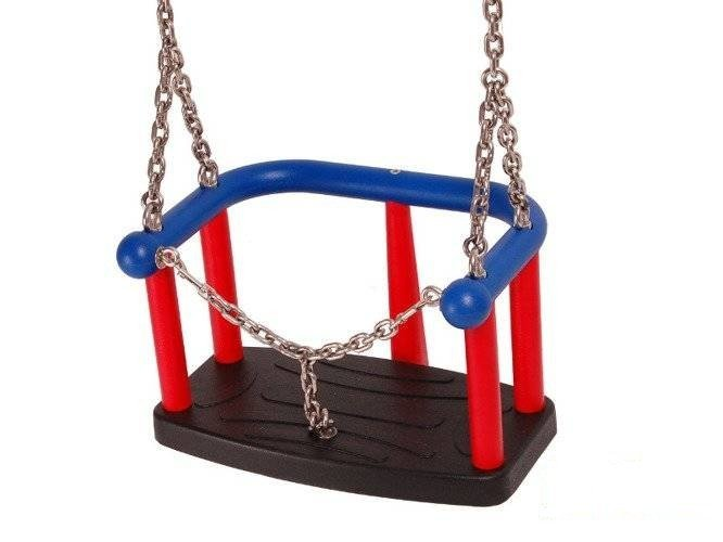 Baby swing seat LUX with chain for commercial