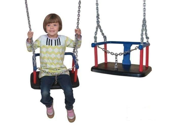 Baby swing seat with chain for commercial