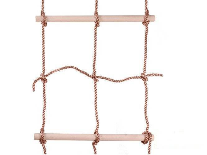 Climbing net with wooden rungs 560x1900 mm