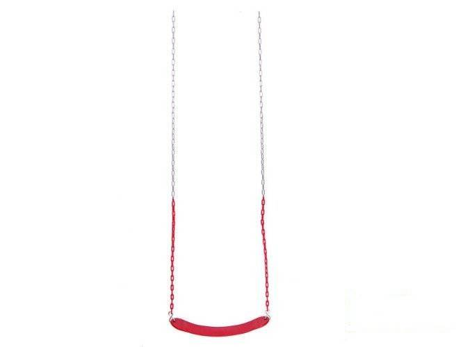 Flexible wraparound swing seat with coated chain