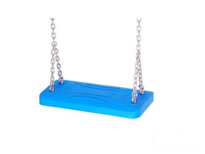 LUX rubber seat  with an aluminum insert + Galvanized metal chain set 5 mm 1,8 m