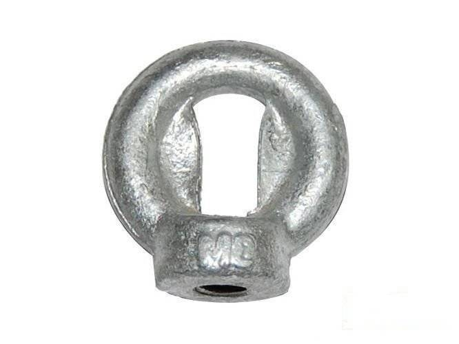 Metal 'eye' galvanized M8