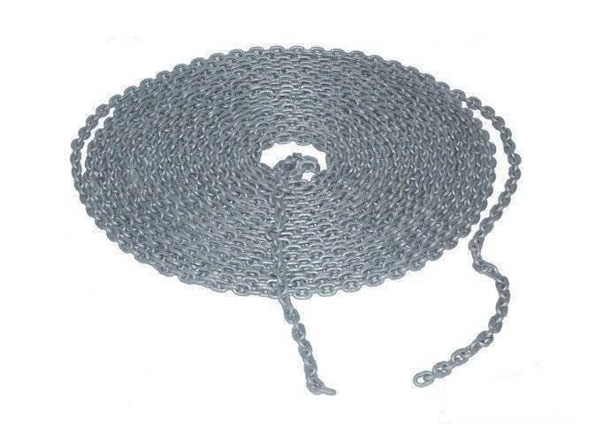 Metalgalvanised chain 6 mm, price per meter