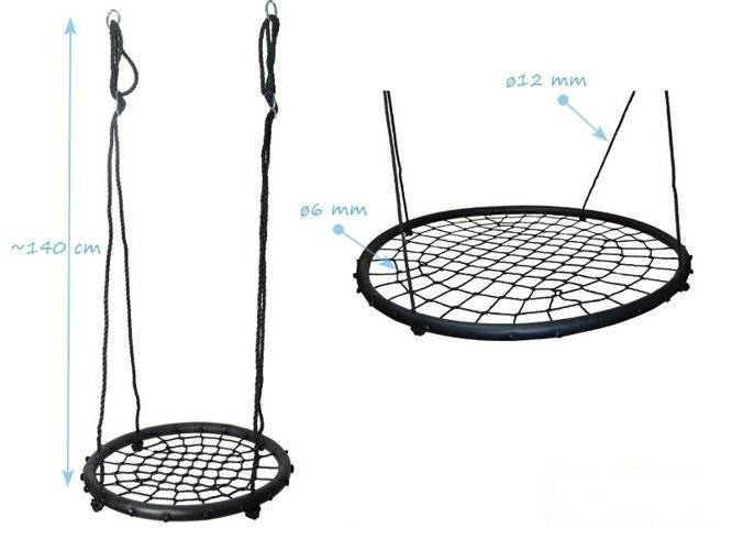 Nest swing Slim 120 cm
