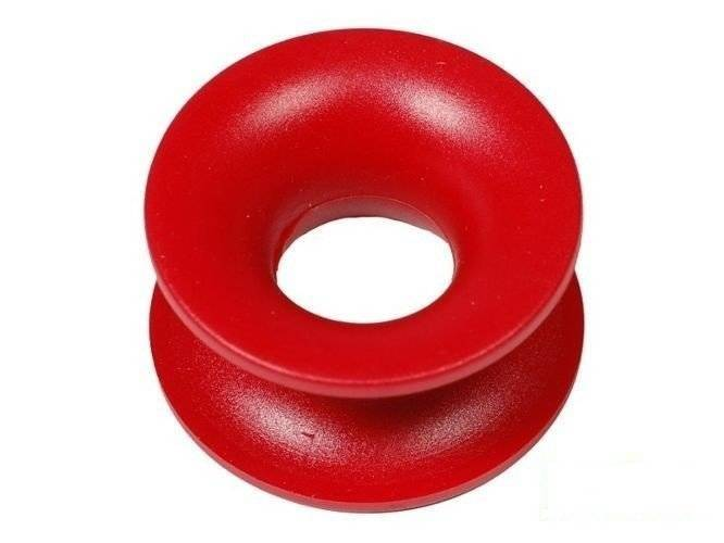 Plastic circle for the reinforced rope
