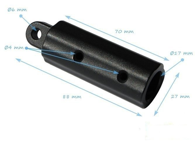 Plastic ferrule 16 mm with 6mm hole