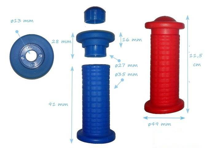 Plastic grips set 100 mm