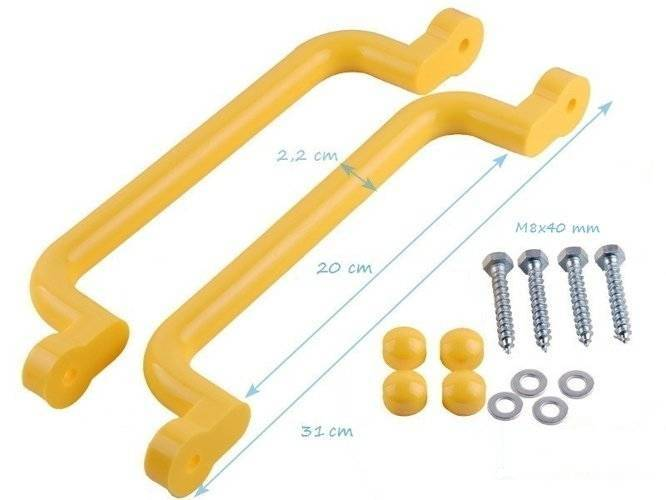 Plastic handgrips set 330x70 mm