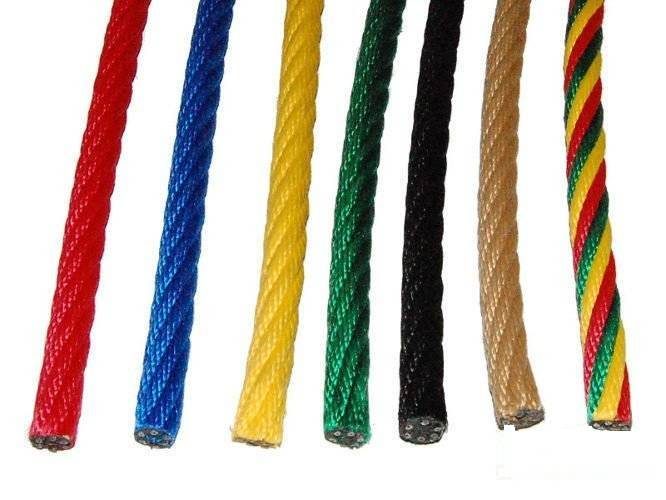 Reinforced (armed, wired) rope PP 16 mm