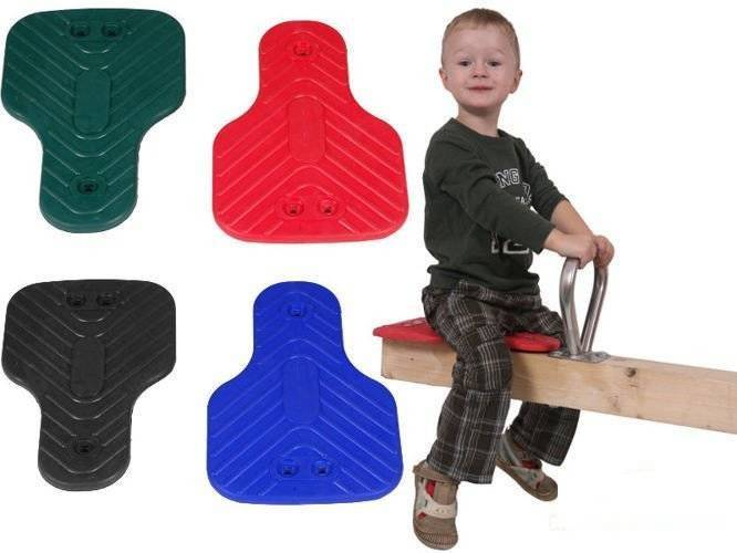 Seesaw rubber seat