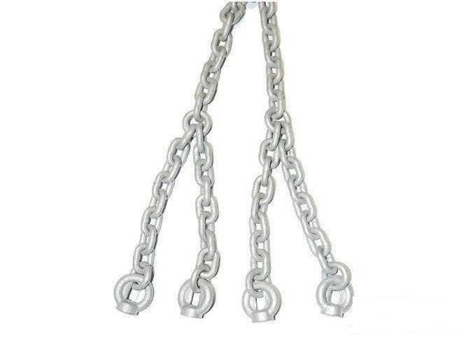 Set of 5mm galvanized chains