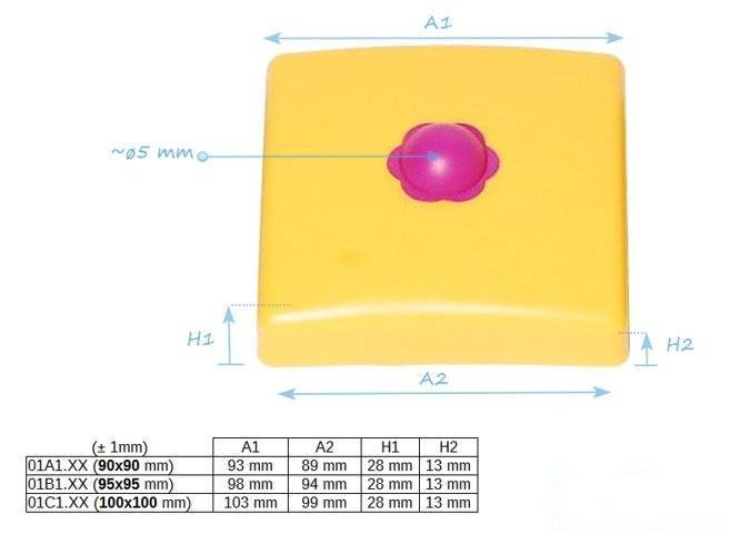 Square beam plastic cover 95x95 mm