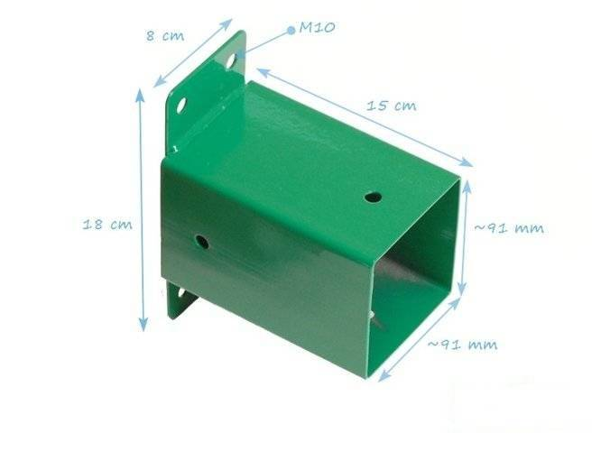 Wall attachment to the square beam